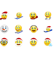 Christmas and New Year smile collection vector image vector image