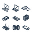 computer gadgets and hardware isometric icons vector image vector image