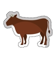 cow meat butchery icon vector image