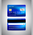 Credit card front and back side credit