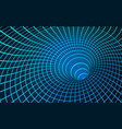 digital visualisation black hole wormhole vector image
