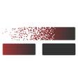 disintegrating pixelated halftone minus icon vector image vector image