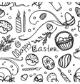Doodle pattern easter vector image