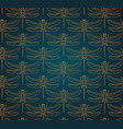 dragonfly pattern seamless vector image vector image