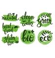 eco friendly natural bio logo set Green vector image