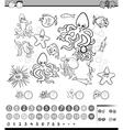 educational math task cartoon vector image
