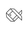 fish origami logo vector image