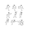 fitness athlete hammer workout collection set vector image