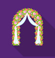 floral wedding arch icon in flat style isolated on vector image vector image
