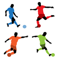 four soccer players vector image