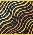 gold black paper waves 3d realistic template vector image vector image