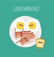 Good morning breakfast vector image vector image