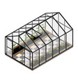 greenhouse at an organic farm vector image vector image