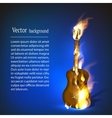 Guitar in fire music vector image vector image