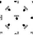 hand cursor and website pattern seamless black vector image vector image