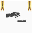 Hand swiping a credit card symbol vector image vector image