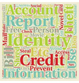 Identity Theft You Can Prevent It text background vector image vector image