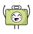 kawaii cute happy briefcase and medical kit vector image vector image