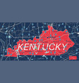 kentucky state detailed editable map vector image vector image