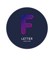 letter f latin alphabet display vector image vector image