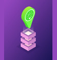 location pointer with lightbulb icon isometric vector image