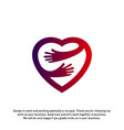 love care creative logo concepts heart care logo vector image vector image