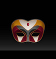mardi gras carnival face mask realistic vector image vector image