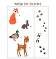 matching game puzzle for children vector image