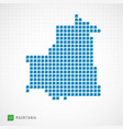 mauritania map and flag icon vector image