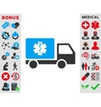 Medical Shipment Icon vector image vector image