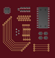 microprocessor a set of devices vector image