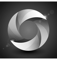 Moebius origami gray and white paper circle vector image vector image