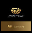 mountain landscape nature gold logo vector image vector image