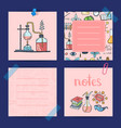 notes templates set with sketched science vector image vector image