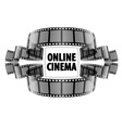Online cinema video film vector image vector image