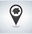 pig flat pin map icon map pointer map markers vector image vector image