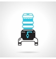 Portable water cooler jug flat icon vector image vector image