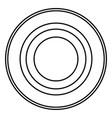 radio signal symbol connect icon black color flat vector image vector image