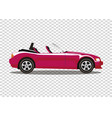 red modern cartoon colored cabriolet car isolated vector image