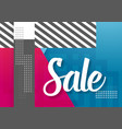 sale paper lettering template modern sale vector image vector image