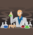 scientist in lab vector image