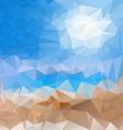 sea beach blue sky polygonal triangular pattern vector image vector image