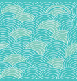 seamless handmade pattern with cyan sea waves vector image vector image