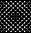 seamless pattern small crosses diagonal grid vector image vector image