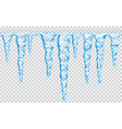 Seamless repeatable icicles vector image vector image