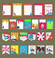 set cards with sweet candies vector image
