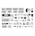 set of elements for e-market web site vector image vector image