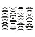 Silhouette black white mustache hair