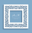 square frame with cutout paper swirls vector image vector image