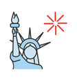 statue liberty color icon vector image